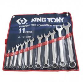 Jogo de Chaves Combinadas em Milímetros com 11 Peças - KING TONY
