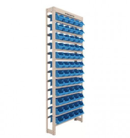 Kit Estante Gaveteiro com 60 Gavetas Empilháveis Número 3 Azul - PRESTO