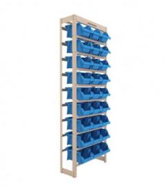 Kit Estante Gaveteiro com 27 Gavetas Número 5 Azul - PRESTO