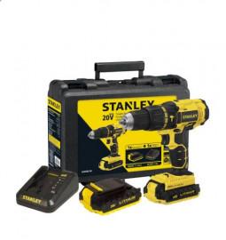 Parafusadeira/Furadeira de Impacto a Bateria 20V 1/2'' com Carregador e 2 Baterias - STANLEY
