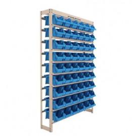Kit Estante Gaveteiro com 54 Gavetas Número 5 Azul - PRESTO