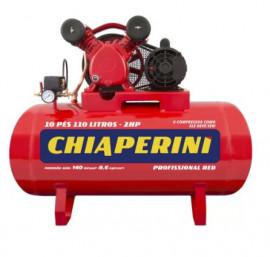 Compressor de Ar Média Pressão 10 pcm 110 Litros 10/110 RED - CHIAPERINI